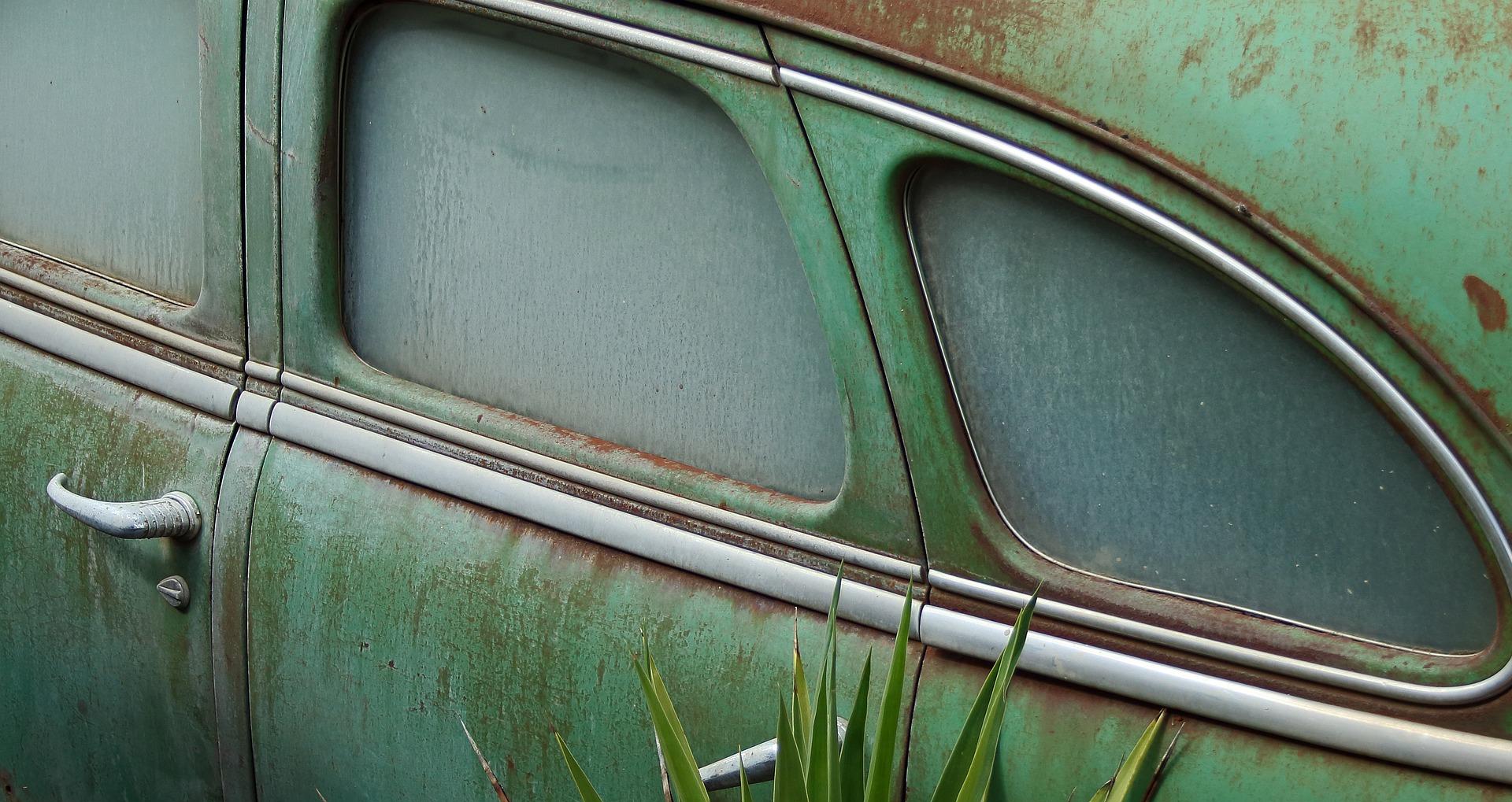 Carrosserie de voiture ancienne